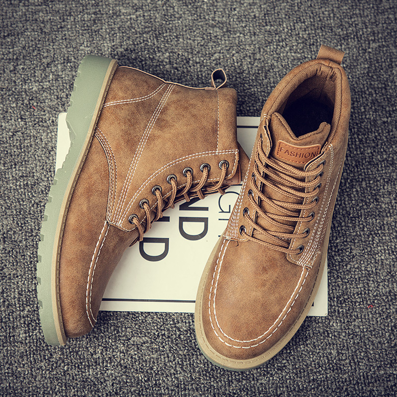 Men's High Top Boots Ankle Dr Martin Booties Fashion Casual Shoes For Men Sneakers Man Botas Hombre Footwear Male Krasovki Adult