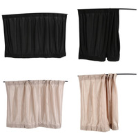 2Pcs Set New Black Beige Cotton Fabric Car Auto 50S UV Protection Side Window Curtain Sunshade