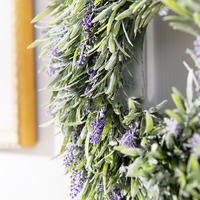 LumiParty Artificial Lavender Flowers Garland Decorative Artificial Flower Garland Ivy Vine Hanging Garland