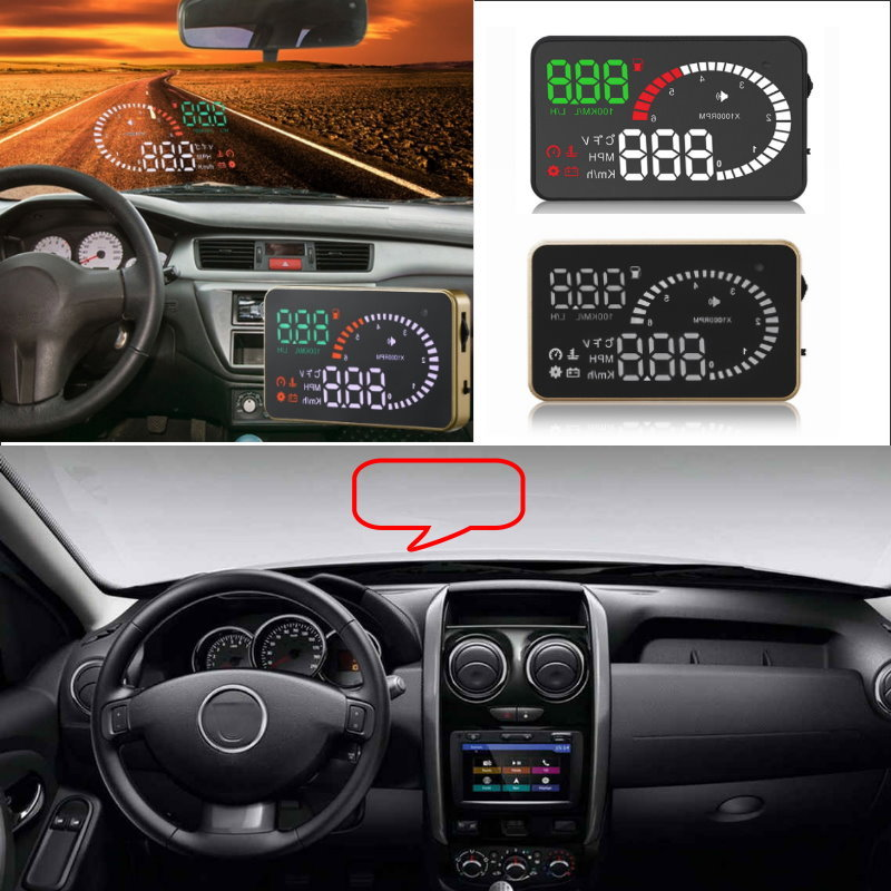 Liislee Car HUD Head Up Display For Renault Duster Logan Megane Captur Clio Fluence - Safe Screen Projector / OBD II Connector цена 2017