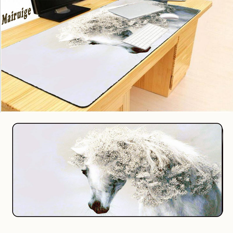 Mairuige Cool Horse Art Mouse Pad Pad To Mouse Notbook Computer Mousepad Big Gaming Pad Overlock Edge Mouse Pad Free Shipping