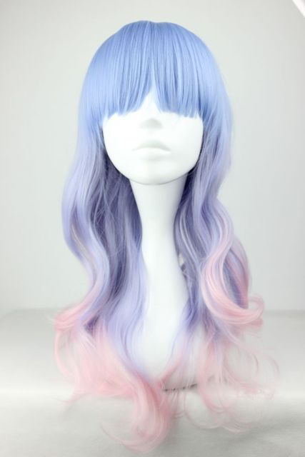MCOSER 55cm Long Multi-Color Beautiful lolita wig Anime Wig