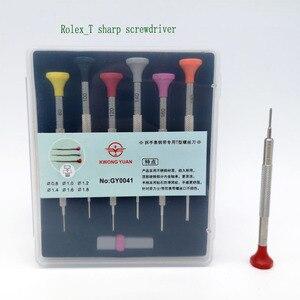 Image 1 - Darmowa wysyłka zestaw wkrętaków t blade ze stali nierdzewnej 6 z zapasowe ostrza do naprawy zegarków