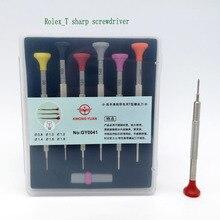Ücretsiz kargo paslanmaz çelik T bıçak tornavida seti ile 6 için yedek bıçaklar İzle onarım
