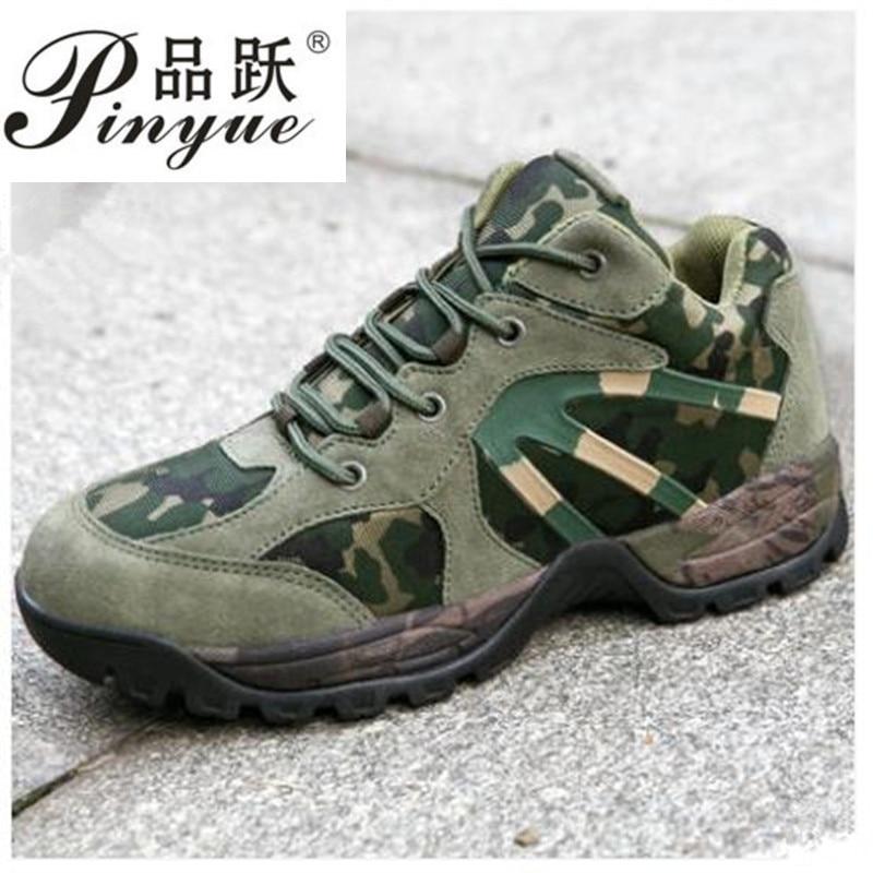 Camouflage haut Tube toile caoutchouc semelle entraînement chaussure hommes chasse escalade marche militaire Combat tactique bottes