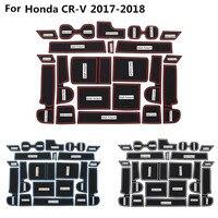 High Quality Car Groove Gate Slot Armrest Storage Rubber Waterproof Mats Cup Door 21pcs For Honda