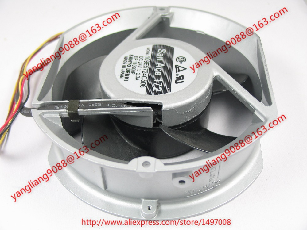SANYO 109E5724C506 DC 24V 2.3A 172x150x51mm Server Round fan