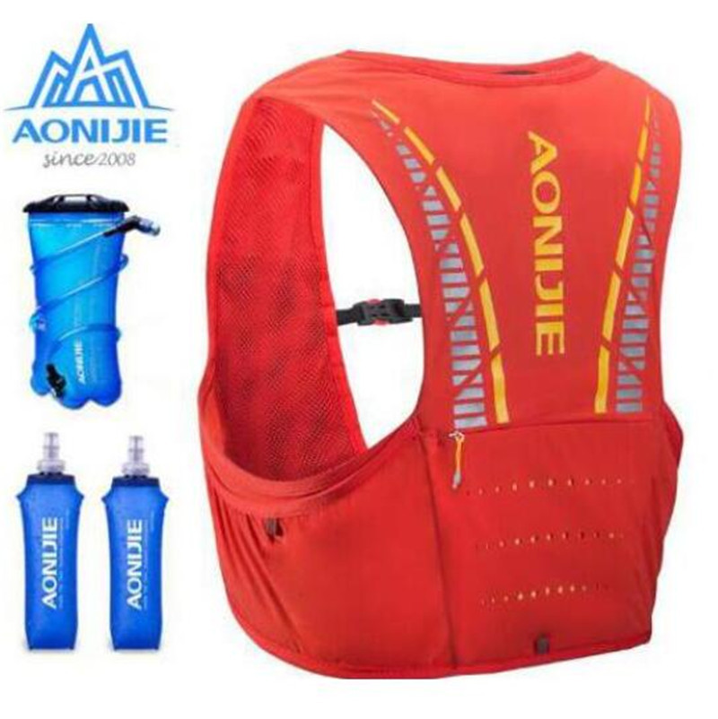 AONIJIE 5L Trail Running Hydration Vest Backpack Hiking Cycling Camping Marathon Rucksack Bag Water Bladder Running