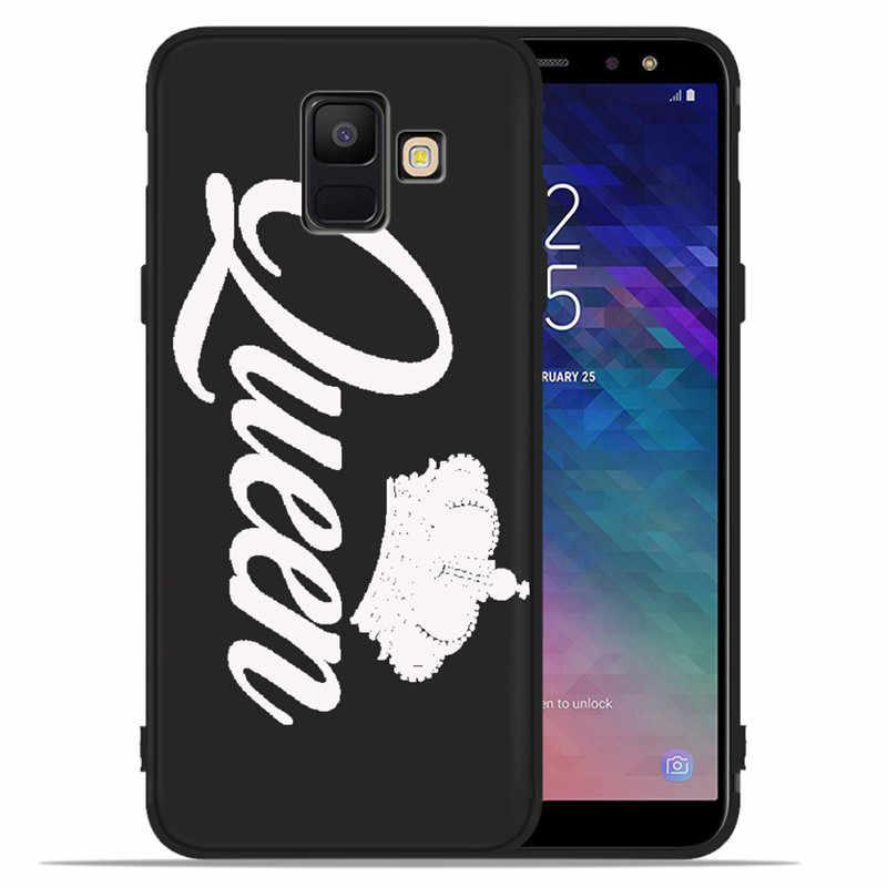 Roi Reine Couronne bricolage De Luxe Pour Samsung Galaxy A9 A8 A7 A6 A5 A3 J3 J4 J5 J6 J8 Plus 2017 2018 housse de téléphone Coque Etui funda