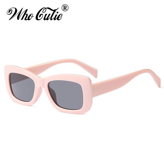 dd56f4d1ba39 WHO CUTIE 2018 Oversized Square Sunglasses Women Men Retro Brand Designer  Vintage Thick Rectangular Frame Girl Sun Glasses OM573