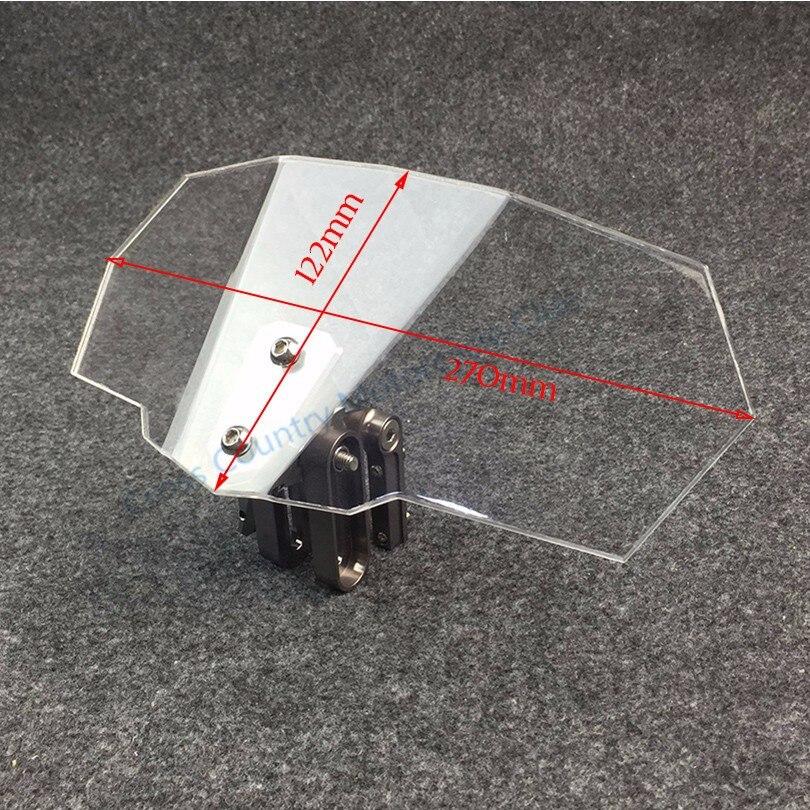 Универсальное лобовое стекло мотоцикла для Kawasaki BMW Ducati Honda KTM, универсальное регулируемое прозрачное лобовое стекло Risen