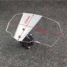 Universal Motorrad Windschutzscheibe für Kawasaki BMW Ducati Honda KTM Motorrad Universal Einstellbare Risen Klar Windschutzscheibe
