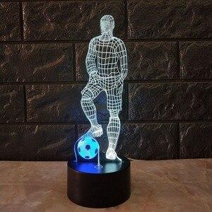 Image 3 - 3D ฟุตบอล TOUCH โคมไฟตั้งโต๊ะ 7 สีเปลี่ยนโคมไฟตั้งโต๊ะ USB Powered โคมไฟกลางคืนฟุตบอลไฟ LED Decor ของขวัญห้องนอน