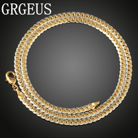 5mm Hammered Braided Wheat Link Yellow White Gold Filled Necklace Womens Mens Chain Fashion Jewelry N010
