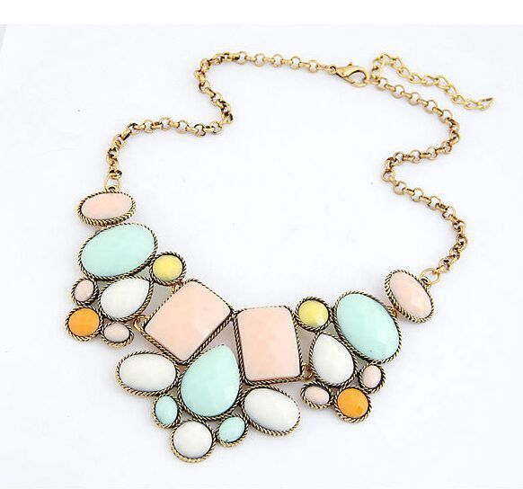 Star Jewelry New 5 Colors VinatgeJewelry Wholesale Gem Choker Charm Statement Retro Necklaces & Pendants Gift