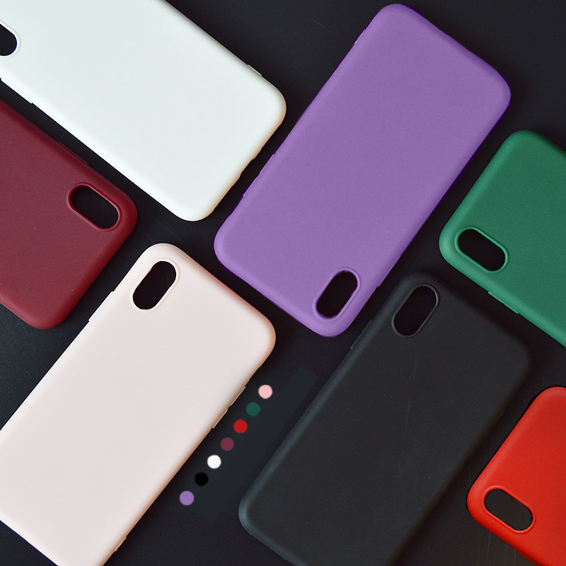 BROTOLA Brand For Coque iPhone 7 Case iPhone 6 Case Silicone Candy Color Soft Matte Cover For iphone X 6s 7 8 Plus Phone Cases
