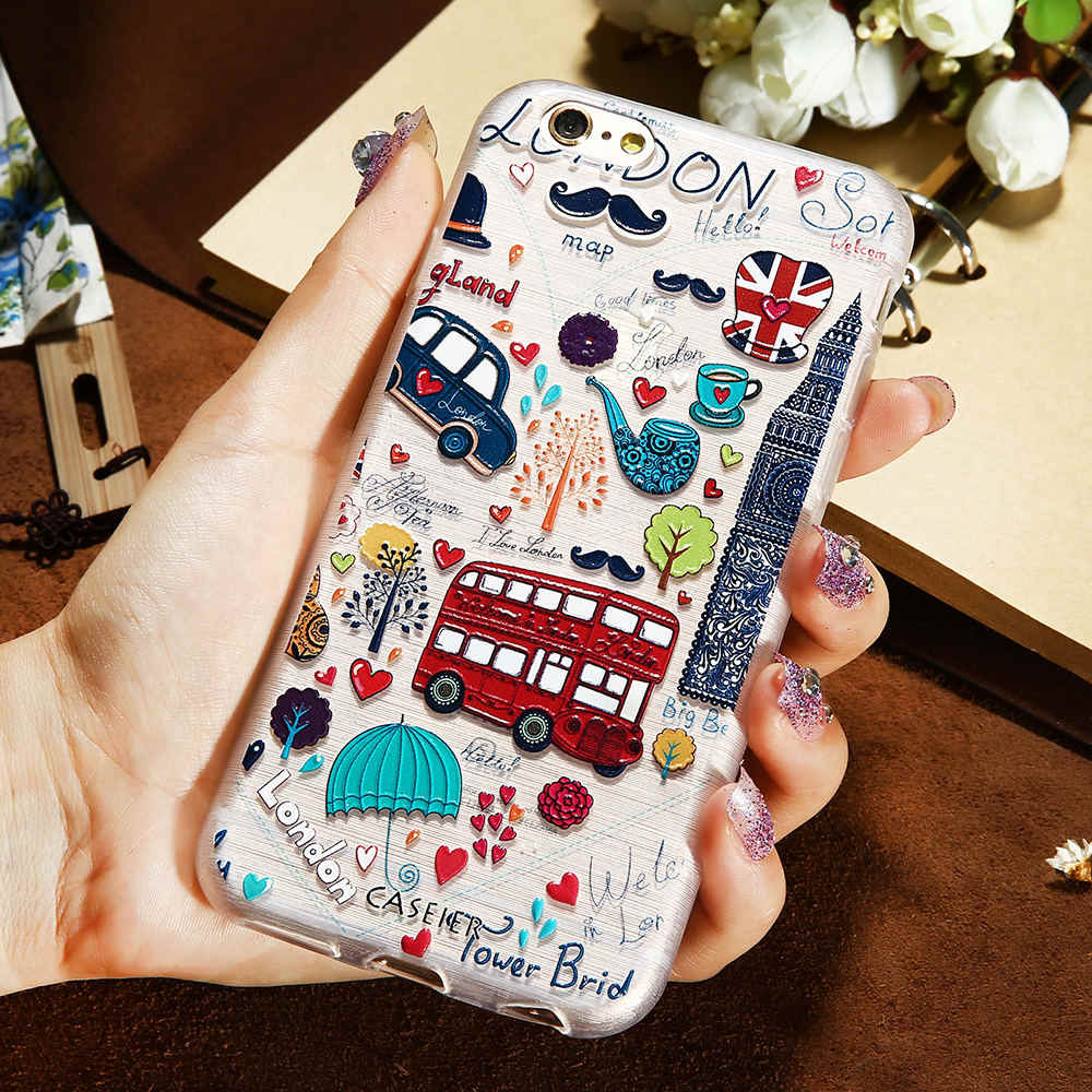 CASEIER Girly Case Voor iPhone X 8 7 6 6 s Plus XS Max XR 5 s SE Soft Cases voor Samsung Galaxy S8 S9 Plus S6 S7 Rand Note 8 9 10