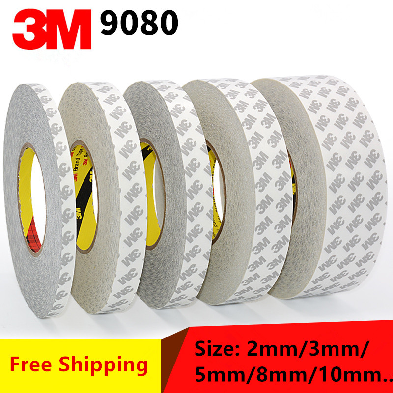 Original 3M 9080 High Adhesive Tape High Temperature Resist for LED Light Strip Phone LCD Touch Screen Bezel 50M/roll (2mm~25mm)