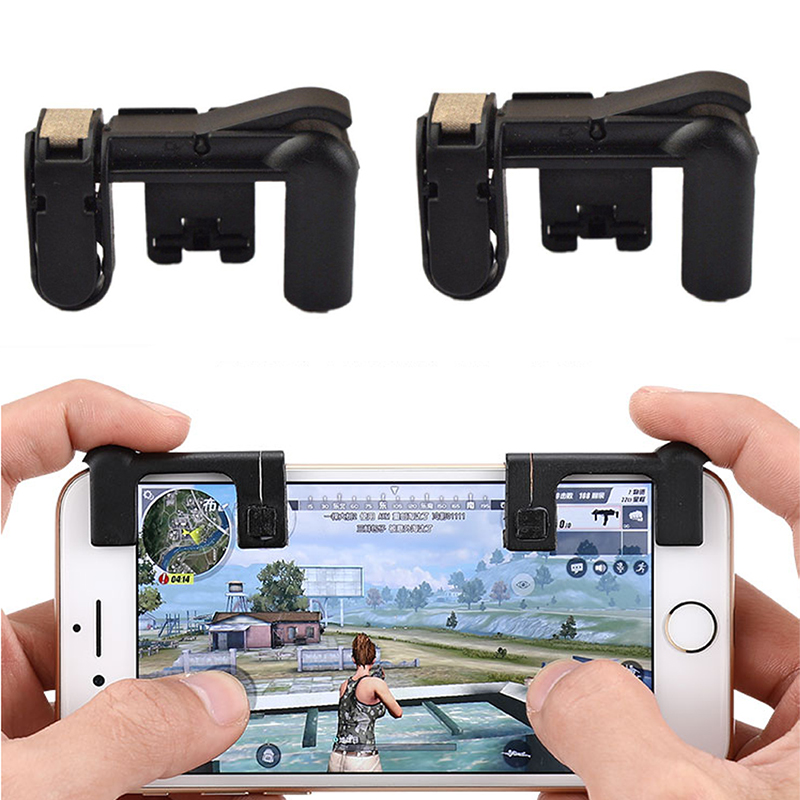 The 4th Generation Smart phone Mobile Gaming Trigger for PUBG Mobile Game Fire Button Aim Key L1R1 Shooter Controller all in 1 gamepad for pubg controller l1 r1 mobile fire shooter for pubg trigger adjustable mobile gaming accessories for pubg