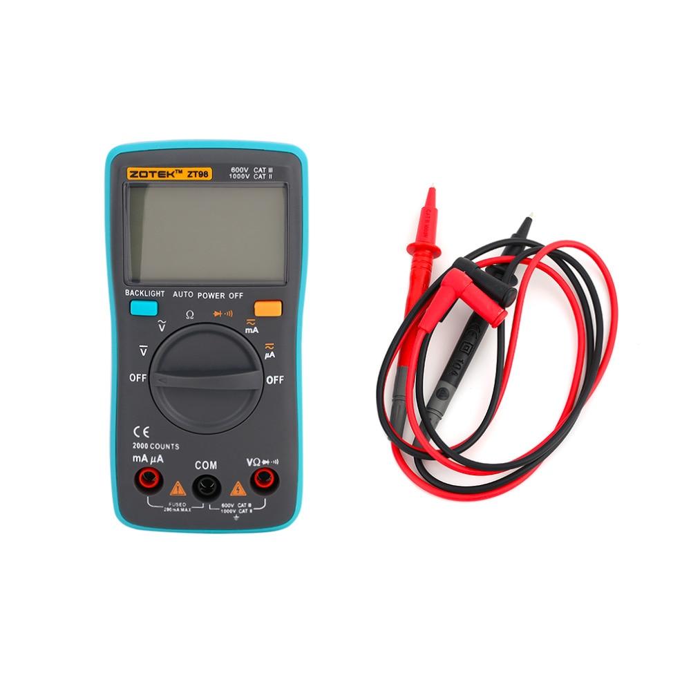 ZT98 Universal Automatic Electric LCD Digital Display Multimeter Voltmeter Ammeter AC DC Measurement Tool Worldwide Sale
