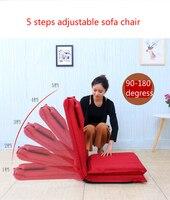 Высокое качество удлиненной спинки ленивый диван раскладной диван кровать японский татами спинка кресла 5 шагов регулируемая льняной ткан