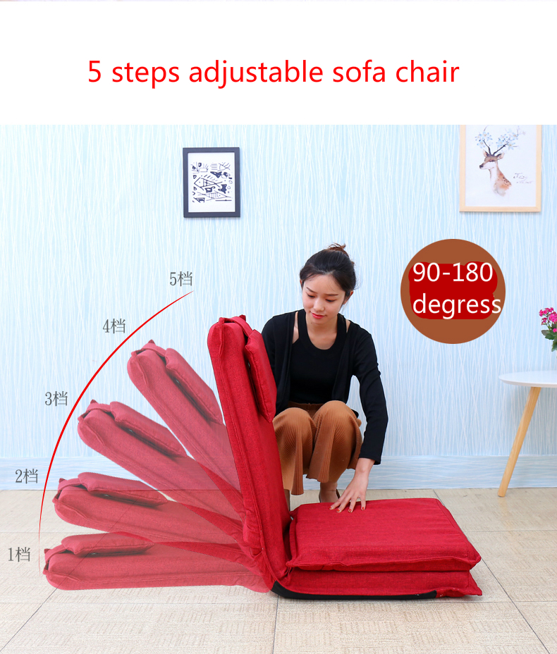 High quality extended backrest lazy sofa folding sofa bed Japanese tatami backrest chair 5 steps adjustable Linen fabric seat универсальный распылитель с алюминиевым контейнером jtc 5204