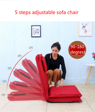 High quality extended backrest lazy sofa folding sofa bed Japanese tatami backrest chair 5 steps adjustable
