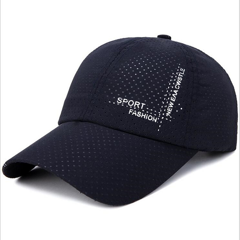 2018 Summer Sunscreen Men's Breathable Mesh   Baseball     Caps   Quick Dry HatBone Snapback Male Climbing Running Sport Hats Drake   Cap
