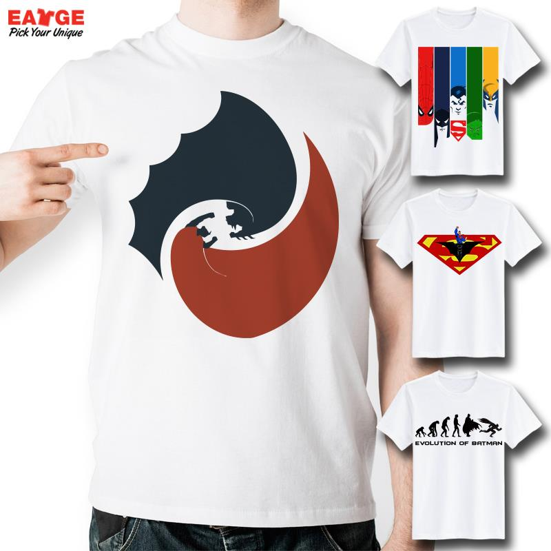 c01ffbc5e [EATGE] Top Cool Batman VS Superhero T Shirts Funny Joker Printed Justice  League T shirt Fashion Superhero Tshirt Men Women Tee-in T-Shirts from Men's  ...