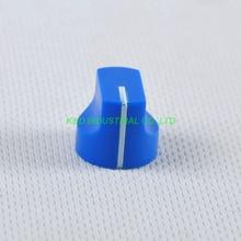 все цены на 10pcs Colorful Rotary Control Vintage Plastic Blue Knob 16x15mm for Guitar 6.35mm Shaft Amp Parts онлайн