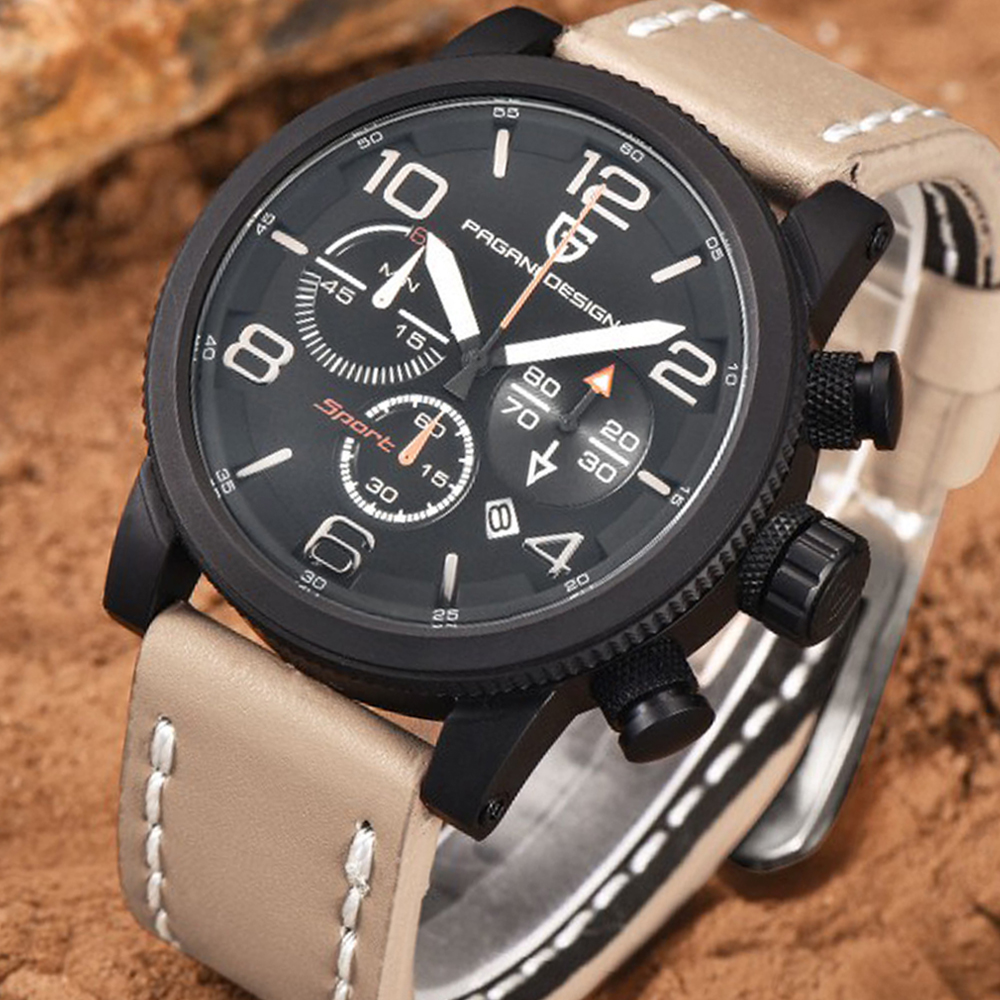 mens watches top brand luxury PAGANI DESIGN genuine leather quartz-watch men Outdoor Sport Chronograph reloj hombre wrist watch mens watches top brand luxury pagani design genuine leather quartz watch men outdoor sport chronograph reloj hombre wrist watch
