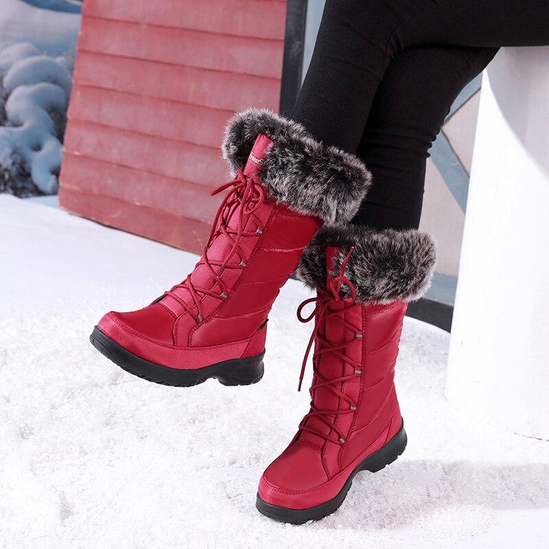 40 D'hiver Femme Excargo Étanche Haute Au Coton Fourrure Degré Xwk8n0PO