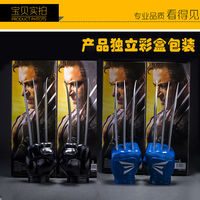 HOT Movie X MEN The Wolverine Claws Wolf Paw Gloves PVC Figure Cosplay Toys Super Hero