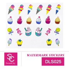 Sweet City Nail Art Gel Polish Water Transfer Stickers For Manicure Beauty Nail Tools Acrylic DLS025