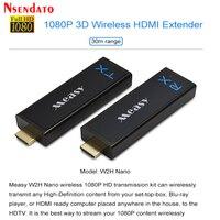 W2H NANO 1080 P 30 м 100FT Беспроводной передачи WI FI HDMI удлинитель передатчик HD отправителя передача комплект для PS4 DVD проектор