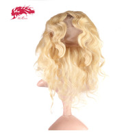 Али Queen Hair продукты объемная волна натуральная волос 14 до 20 613 предварительно сорвал 360 Кружева Фронтальная застежка с регулировкой