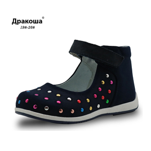 Image 1 - Apakowa crianças verão gênio sandálias de couro sapatos do bebê da criança meninas sandálias 2017 moda crianças meninas casuais sapatos planos