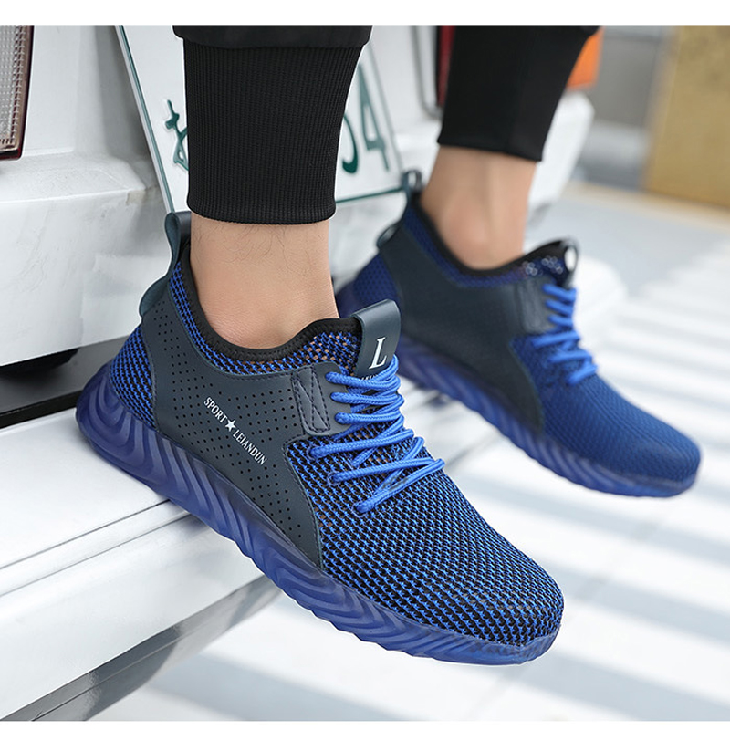 Men Shoes Safety Shoes Boots Man Men Sneakers Summer Mesh Breathable Steel Toe Anti puncture Industrial Safety Work Casual Shoe in Work Safety Boots from Shoes