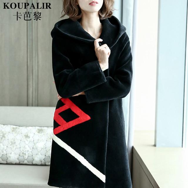 Aliexpress.com : Buy 2017 new long Patchwork Fur dress real wool ...