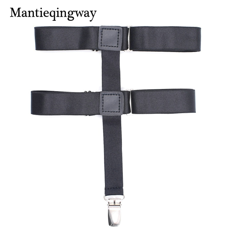 Women Stocking Suspeders Holders Suspensorio Adjustable Elastic Garter Belt Braces Black Shirts Suspenders Strap