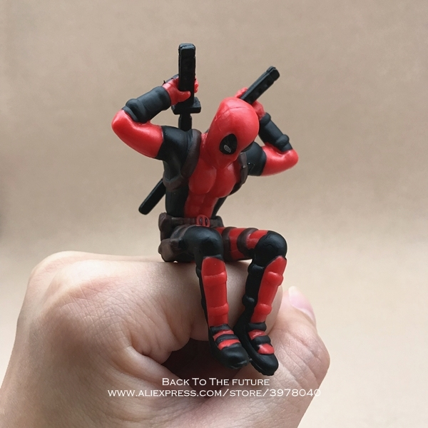 Disney Marvel X-Men Deadpool 2 Action Figure Sitting Posture Model Anime Mini Doll Decoration PVC Collection Figurine Toys model