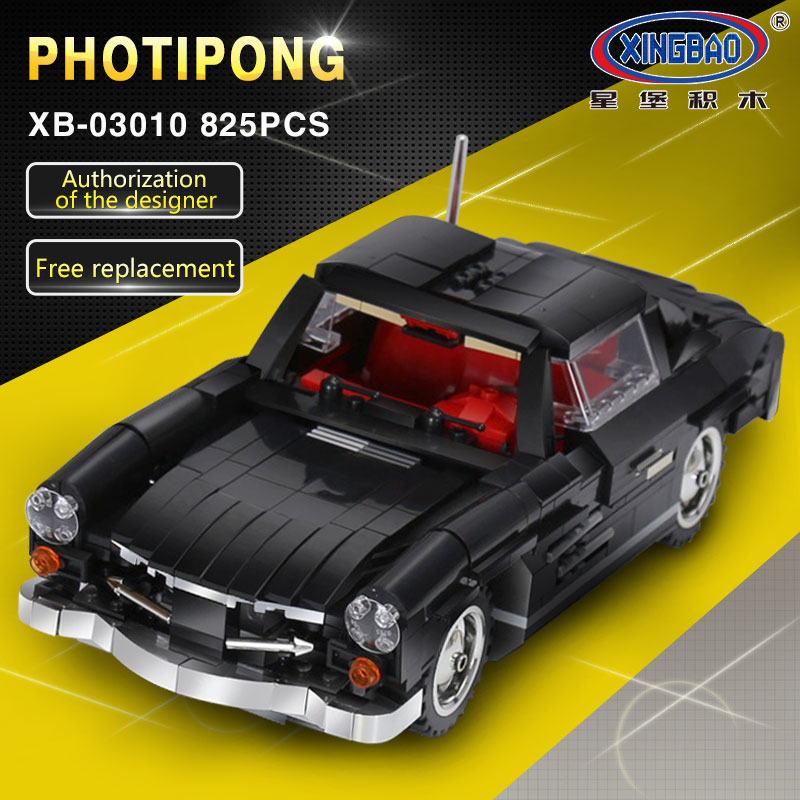 XingBao 03010 Creative MOC Technic Series The Photpong Car Set Children Education Building Blocks Bricks legoing Toys Model Gift wange mechanical application of the crown gear model building blocks for children the pulley scientific learning education toys