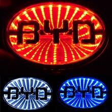 3D LED logo light Car Badge sticker for BYD auto Rear Emblem Running lamp front logo emblem light 11cm x 7.7cm
