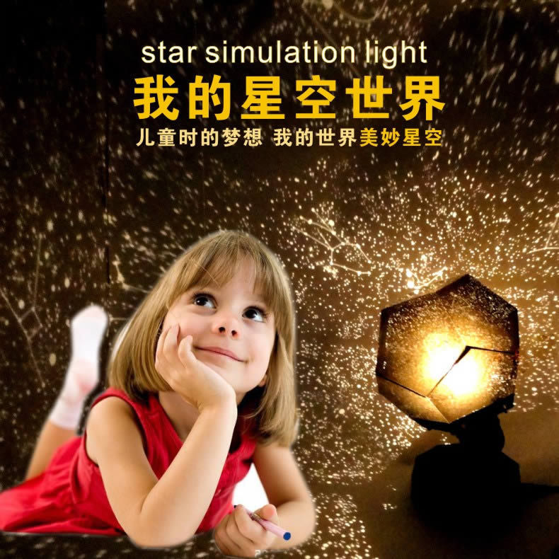 Celestial Star Astro Sky Projection Cosmos Night Lights Projector Lamp Starry Bedroom Decoration Lighting Gadget Party Gift