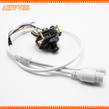 AHWVSE High Resolution 2.8mm 16mm lens 1920*1080P 720P 960P HD POE IP camera module board with LAN cable