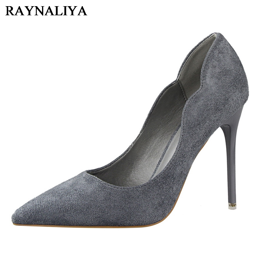 2018 New Sexy Women Pumps Pointed Toe Red Black High Heels 11Cm Shoes Woman Fashion Classic Thin Heel Shoes DS-B0024 2017 new fashion brand shoes black pointed toe rivet thick heel women pumps lace up classic high quality sexy women causal shoes