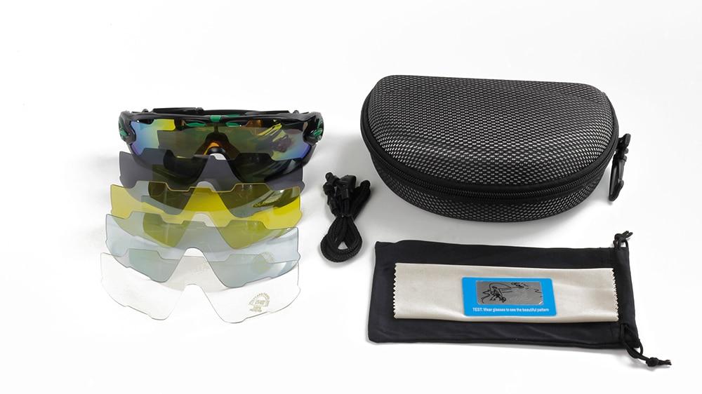 polarized cycling sunglasses full set