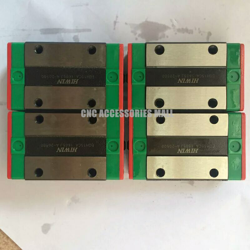 4PCS HIWIN EGH15CA linear bearing sliding block for HGR15 linear guide rail for CNC Router free shipping to israel hgh15c 16pcs hgr15 440mm 4pcs hgr15 300mm 4pcs hiwin from taiwan linear guide rail