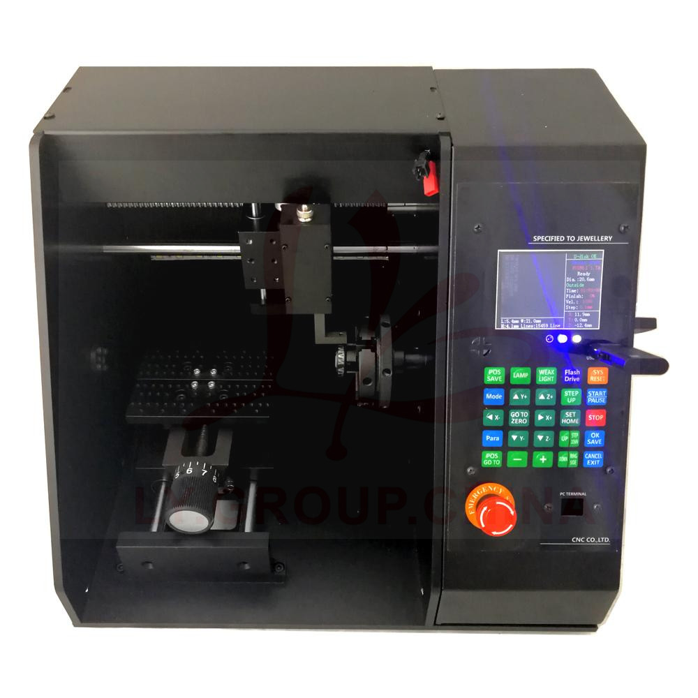 LY 50 Jewellery Bracelet CNC Router Metal Milling Marking Machine with ART CAM Software
