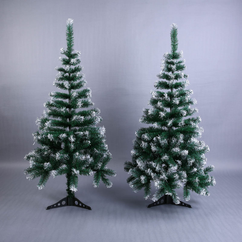 Artificial Flowser Christmas Tree Snowflake Xmas Plastic Tree 120cm New Year Home Ornaments Desktop Decorations Christmas